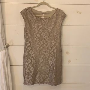 Shimmer Gold Dress
